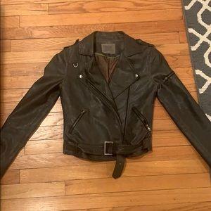 Thread & Supply metallic leather moto jacket